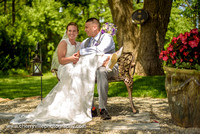 Real Summer Wedding with First Look