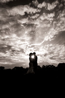 silhouette bride and groom neshanic valley cc